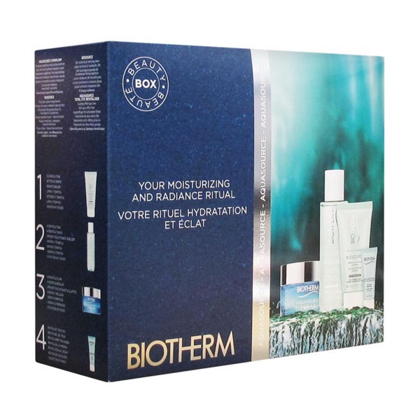 Biotherm aquasource everplump crema piel normal a mixta 50ml + nettoyant 50ml + lotion 30ml + fresh eye cream 3ml