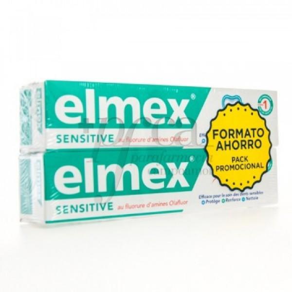 ELMEX SENTITIVE DENTÍFRICO FLUOR 2X 75ML PROMO