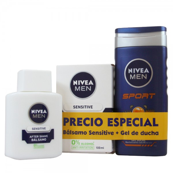 Nivea men sport gel de baño 350ml + after shave balsamo 100ml