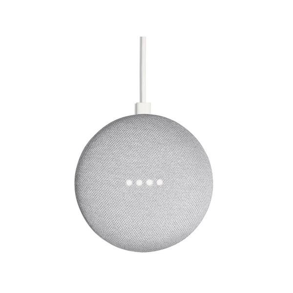 Google google home mini tela gris tiza altavoz inteligente con asistente google assistant reconocimiento por voz luces led de estados wifi 5ghz