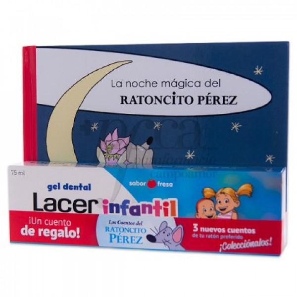 LACER INFANTIL SABOR FRESA 75ML + CUENTO PROMO