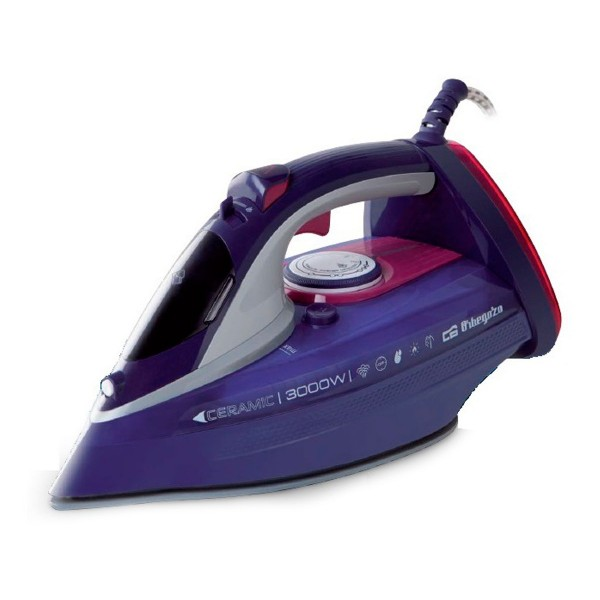 Orbegozo sv3000 lila rosa plancha a vapor de 3000w suela cerámica 230g/min depósito de 450ml apagado automático