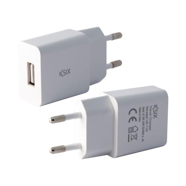 Ksix bxcd1u cargador red usb ksix 2.4a blanco