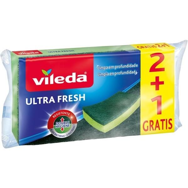 VILEDA Estropajo Ultra Fresh 2+1