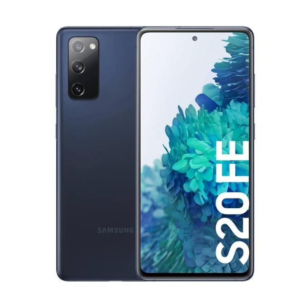 Samsung g780f galaxy s20 fe azul móvil dual sim 4g 6.5'' qhd+ octacore 128gb 6gb ram tricam 12mp selfies 32mp