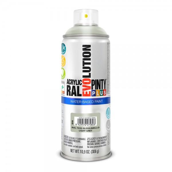 Pintura en spray pintyplus evolution water-based 520cc ral 7035 gris luminoso